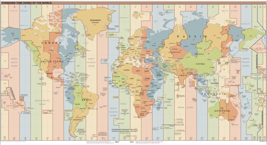 Welt-Zeitzonen-Karte